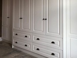 White Drawers Fitted Wardrobe